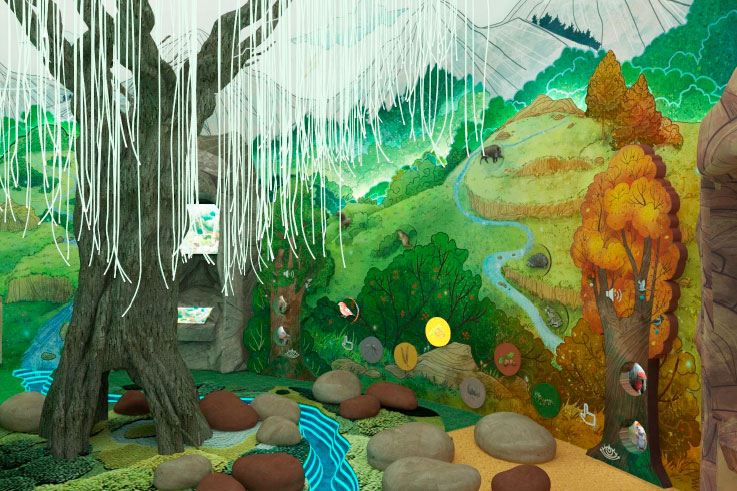 Разработка концепции и дизайн проекта детской игровой зоны (детской площадки) Визит-центра Национального парка «Кисловодский».