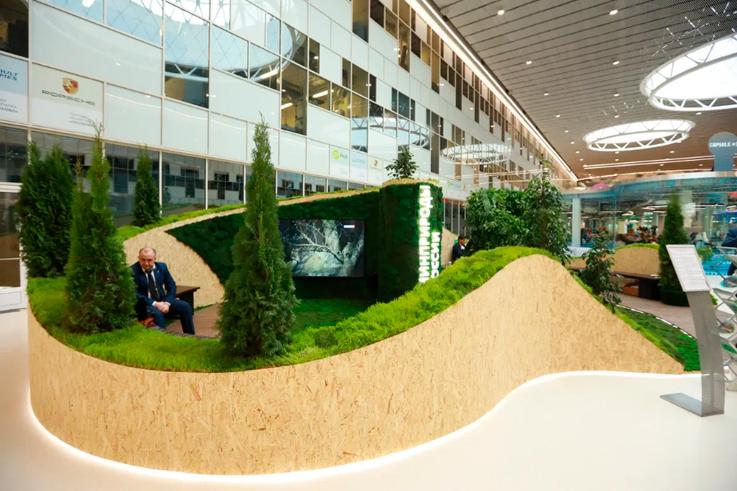Работы по застройке информационно-выставочного стенда Минприроды России, его оформлению и техническому оснащению.